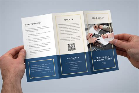 brochure law firm tri fold template on pantone canvas