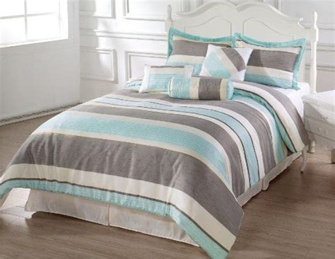 light grey comforter queen amazon com bachelor 7pc comforter set light blue beige