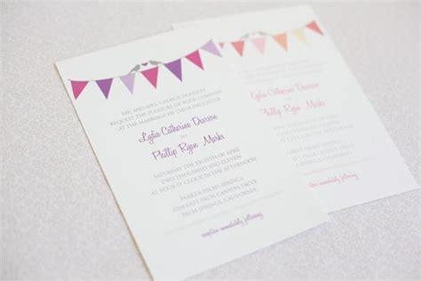 bunting wedding invitations diy diy bunting wedding invitations 793163 weddbook