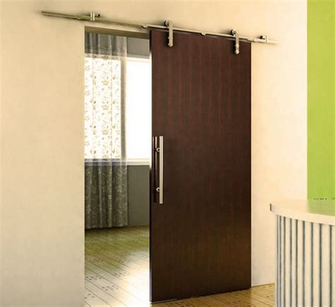 Sliding Metal Barn Doors Interior Sliding Barn Doors With Stainless Steel Hardware And Handles Home Interiors
