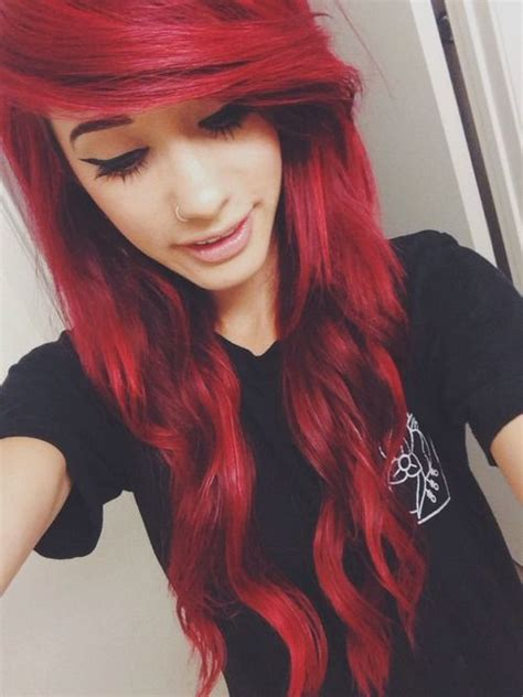 emo hairstyles for adults 25 best ideas about red scene hair on pinterest emo