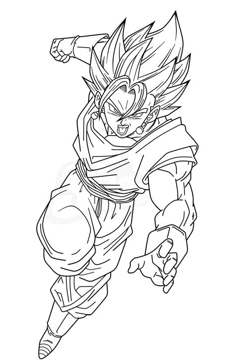 Vegetto Ssjb Lineart By Saodvd On Deviantart Coloriage Dragon Ball Z Super Guerrier A Imprimer Gratuit Dessin Dbz A Colorier Page L