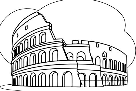 italy coloring pages colosseum italy wonders world coloring page