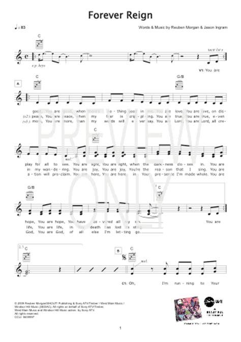 forever reign forever reign hillsong lead sheet lyrics chords
