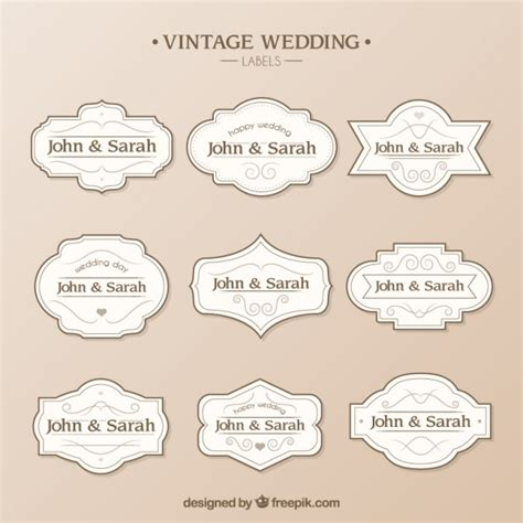 Wedding Labels Template Vector Free Download Wedding Tags Template