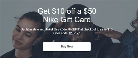 Can You Use A Nike Gift Card At Foot Locker - 10 off 50 nike gift card earn 5x at gyft frequent miler