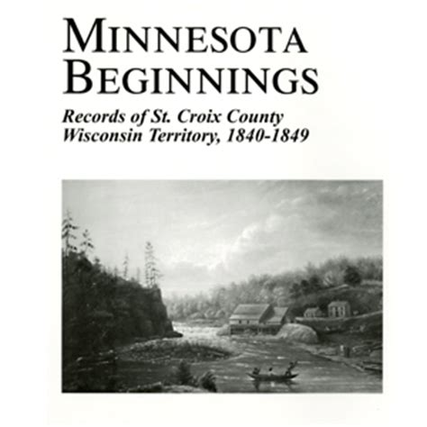 St Croix County Records Books Washington County Historical Society