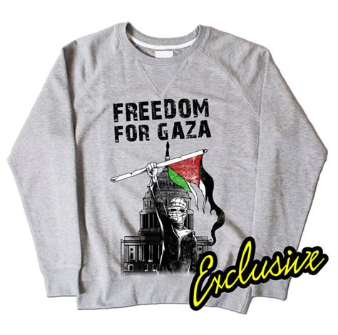 T Shirt Freedom For Gaza freedom for gaza grey sweatshirt 163 24 99
