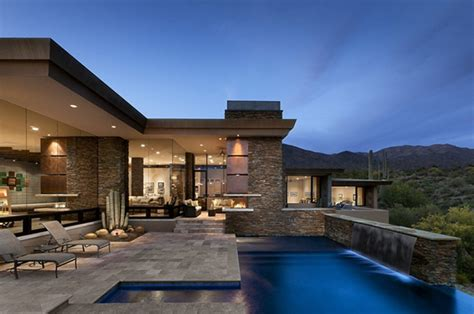 modern desert home design desert home in arizona has spacious interiors and stunning