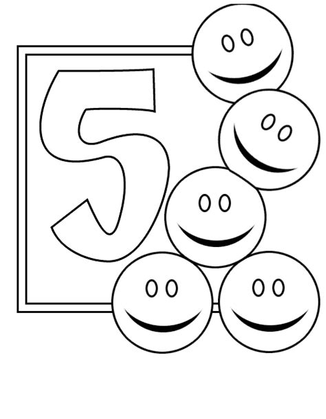 Number 5 Coloring Pages For Toddlers by Free Number 5 Trace Coloring Pages