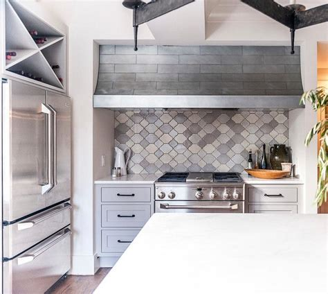 moroccan tiles kitchen backsplash cooking nook with gray moroccan tile backsplash