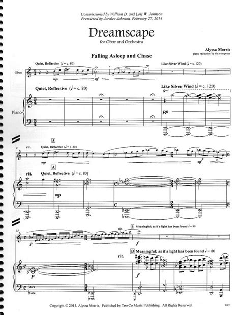 """Alysa Morris """"Dreamscape"""" for Oboe and Piano"""