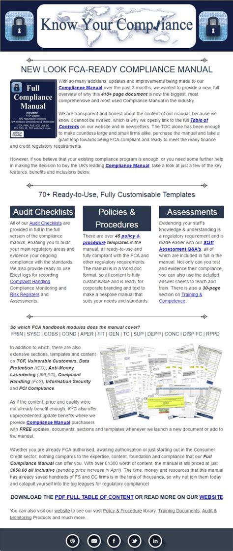 compliance manual template general your compliance