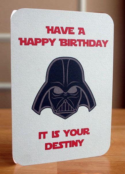 Wars Birthday Card Printable Star Wars Printable Birthday Card Darth By