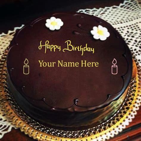 write   happy birthday chocolate cakes pics