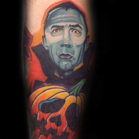 dracula tattoo designs 60 pumpkin tattoos for o lantern design ideas