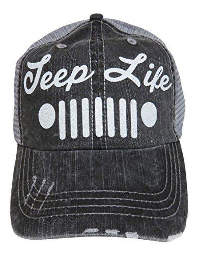 glitter jeep wrangler white glitter jeep distressed look grey trucker cap