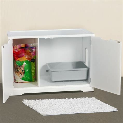 cat washroom bench litter box enclosure cats cat litter boxes and other on pinterest