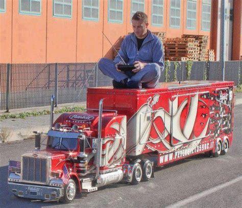 italian truck fan completes his super sized peterbilt 359