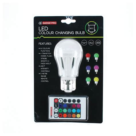 color changing bulb gadgetpro colour changing bulb home store more