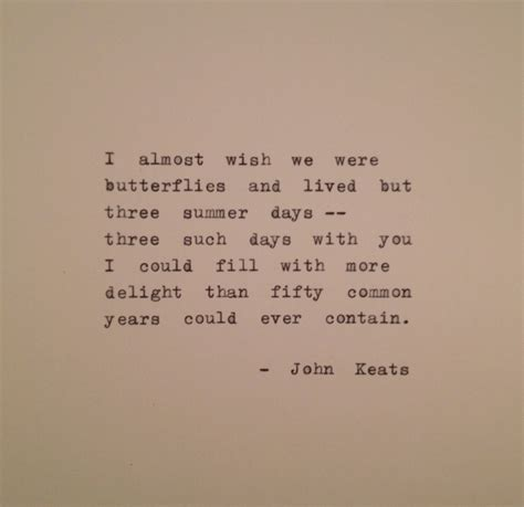 john keats quote typed on typewriter typewriter poem