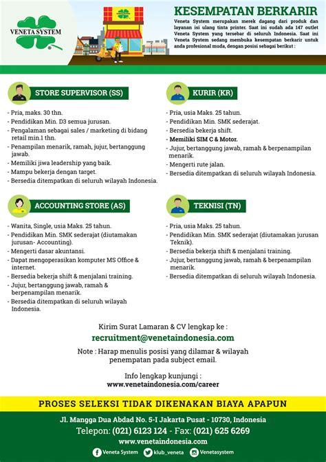 veneta indonesia gorefill gogreen lowongan kerja