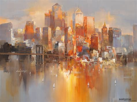 new painting artwork golden morning 0024 wilfred lang