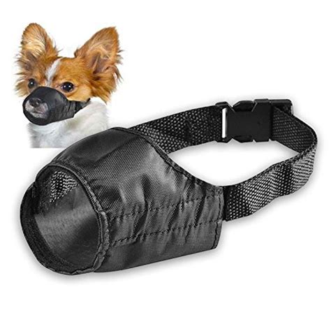 soft muzzle pet adjustable muzzle fabric comfortable soft no bark