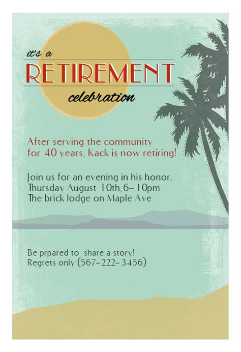 Its A Retirement Celebration Free Retirement Farewell Party Invitation Template Greetings Retirement Invitation Templates Free Printable