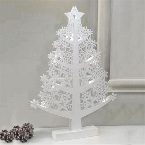 noma 174 wooden star lit christmas tree warm white leds