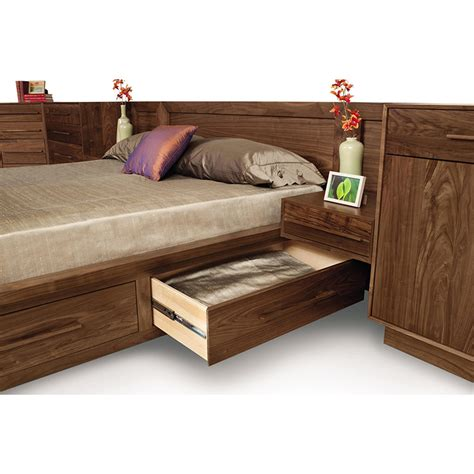 platform beds with drawers and headboard copeland moduluxe sectional platform bed with storage