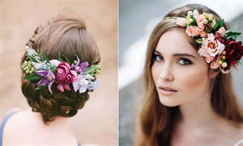 Peinados De Novia Con Flores Naturales Cabello Suelto