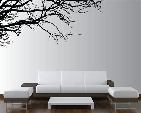 living room wall decal large wall tree nursery decal oak branches 1130