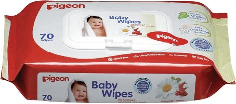 Pigeon Wipes Chamomile Refill 70s buy pigeon baby wipes chamomile and rosehip 70 pieces 245 by pigeon from flipkart bechdo in