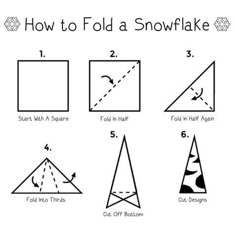 Fold Paper For Snowflake - we are all unique a family inspired by snowflakes