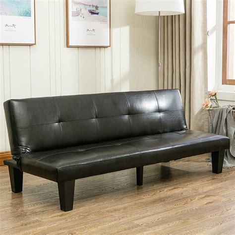 belleze 69 quot leather faux fold futon lounge convertible sofa bed onebigoutlet
