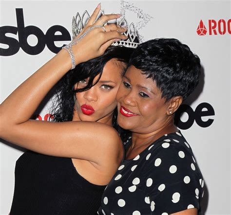 rihanna and her mom rihanna and monica braithwaite photos photos the city of