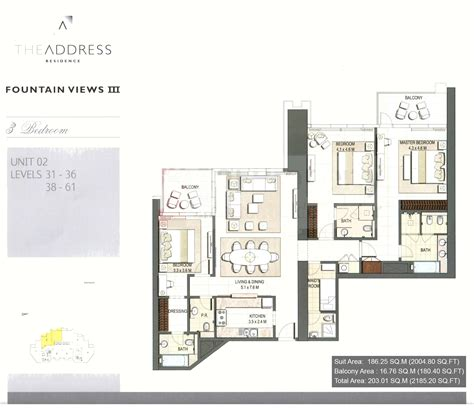 floor plans by address the address residence floor plans downtown dubai