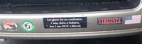 subaru bumper stickers bumper sticker subaru liberal