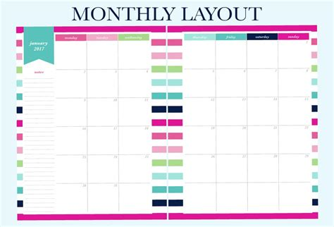printable planner monthly 2017 finally a planner that matches your planning needs