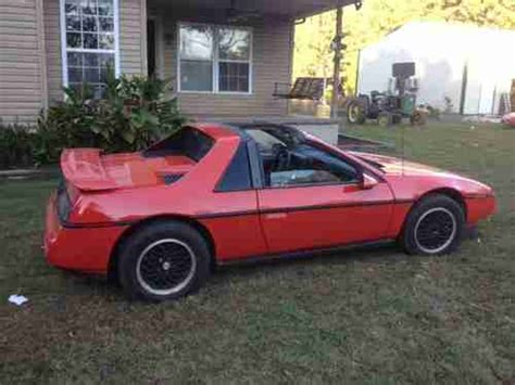 1988 Pontiac Fiero Formula For Sale by Buy Used 1988 Pontiac Fiero Formula T Top V6 Auto