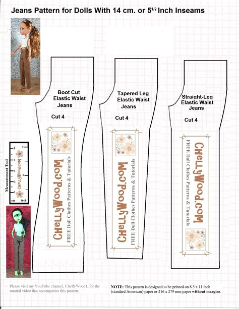 free jeans pattern sewing diy monster high dolls clothes w free pants pattern