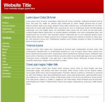 two column layout web design two column red green xhtml css website theme xhtml css