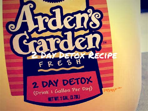 2 Day Detox by Arden S Garden 2 Day Detox Recipe My Flies