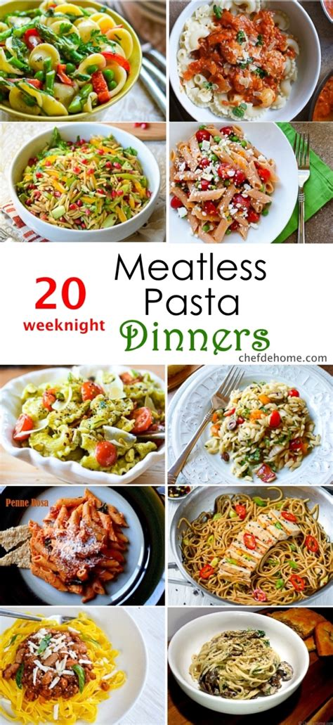 dinner menu ideas mccormick 20 weeknight meatless pasta dinner ideas meals