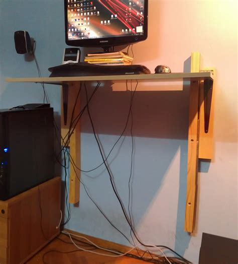 diy adjustable standing desk diy wall mounted adjustable standing desk design picture