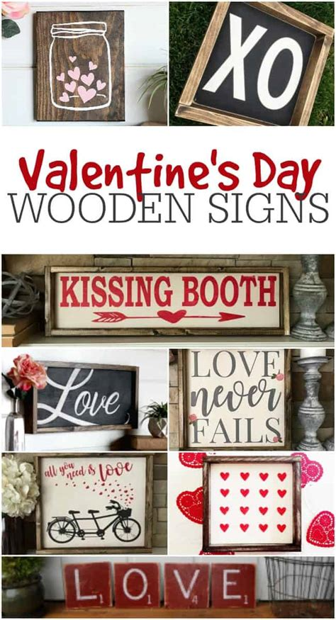 valentines day wooden signs home decor signs