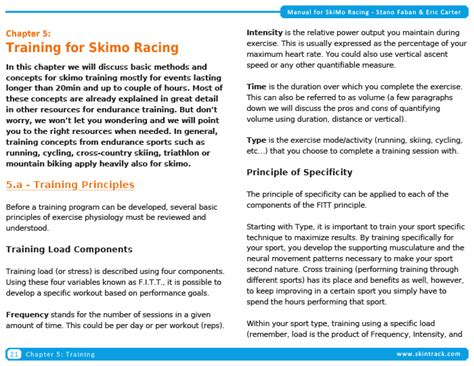 book layout course book announcement manual for ski mountaineering racing is