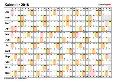 Kalender 2018 Gratis Kalender 2018 Pdf Freeware De