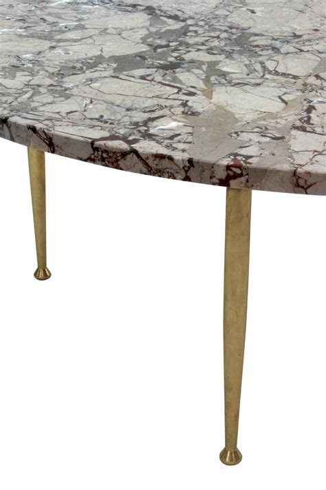 brass coffee table legs coffee table in marble with brass legs for sale at